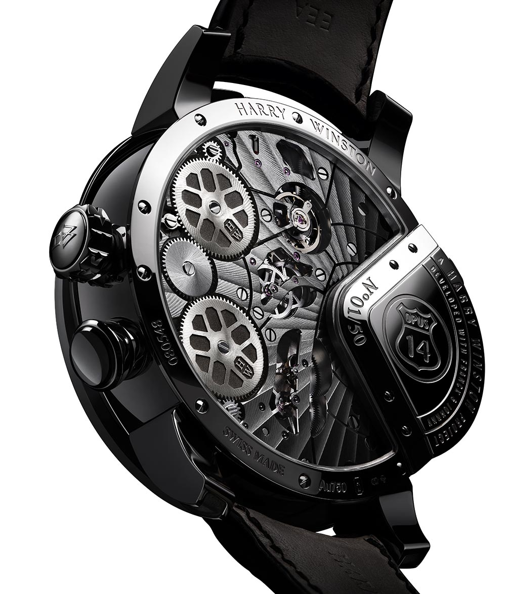 The backside of the Harry Winston Opus 14