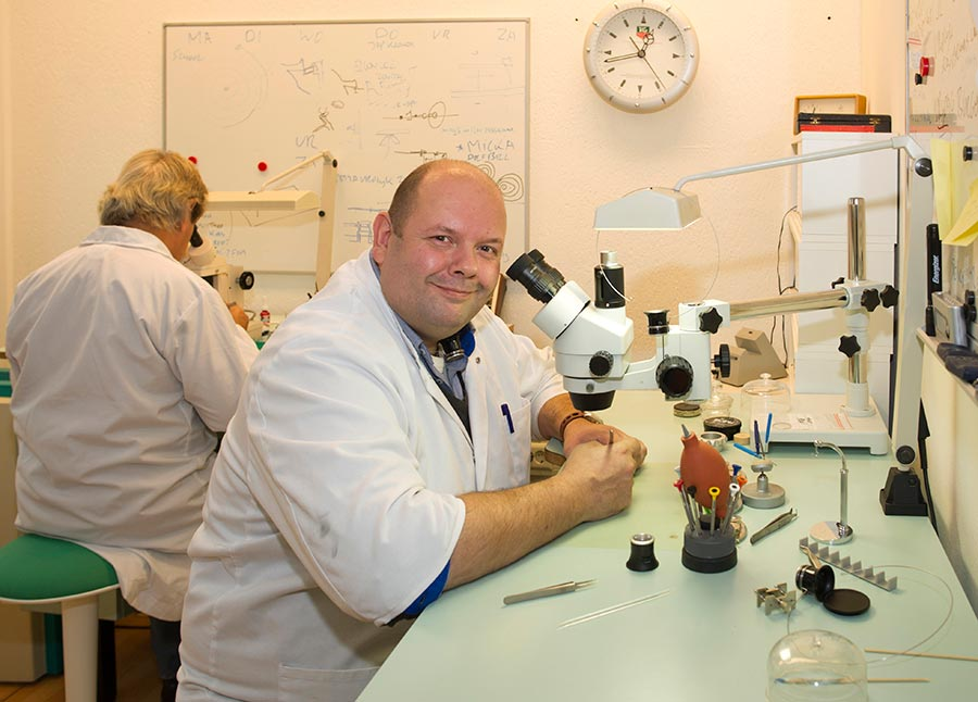 Kalle Slaap in his watch lab