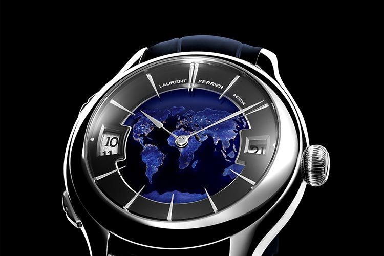 Laurent Ferrier Galet Traveller Globe Night Blue