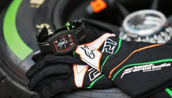 Felio Siby in the design driver seat with Sahara Force India F1