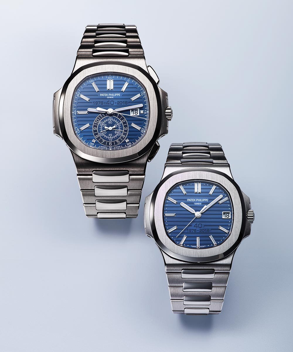Patek Philippe Nautilus ref. 5976/1G and ref. 5711/1P