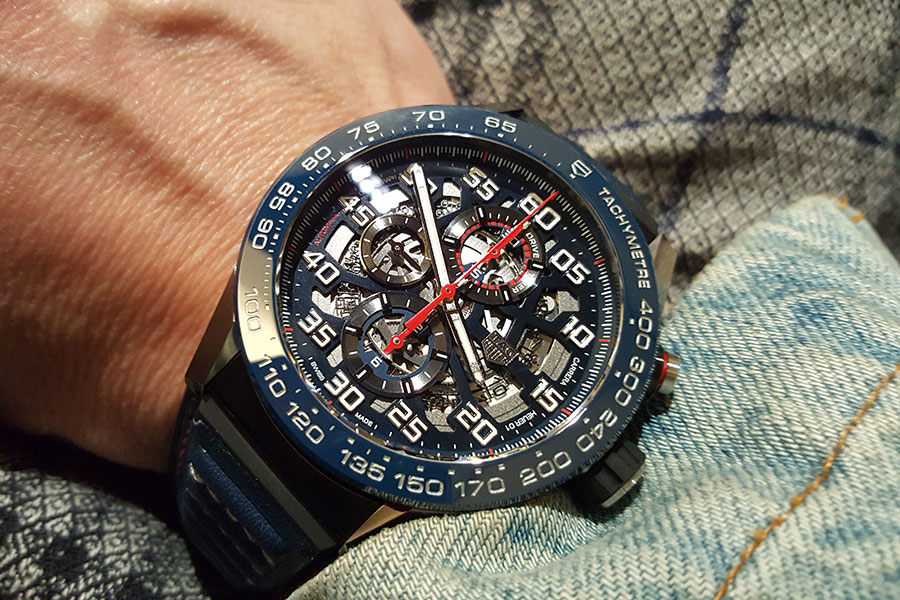 Cool blue TAG Heuer Carrera Calibre HEUER 01 Automatic Chronograph ...
