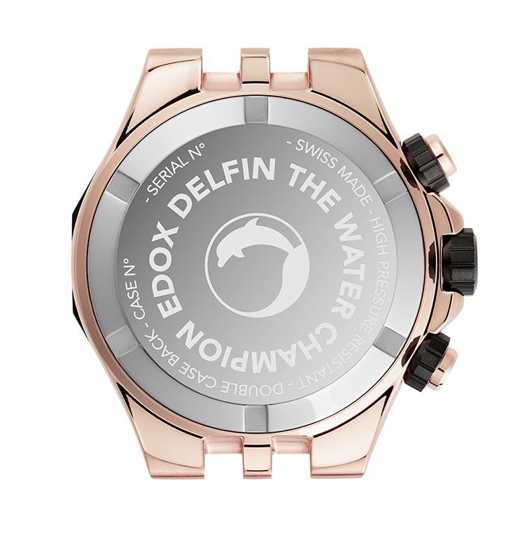 Edox Delfin Chronograph Rose PVD