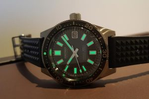 The Seiko Prospex Diver SLA017, based on the first Seiko Diver 6217 from 1965.