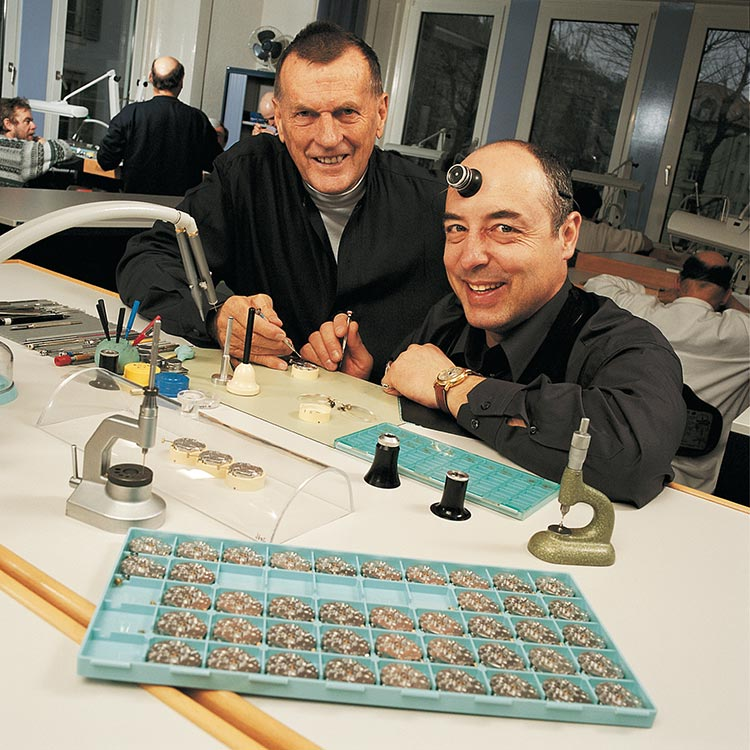 Watchmaker Ludwig Oechslin (right) and Rolf W. Schnyder