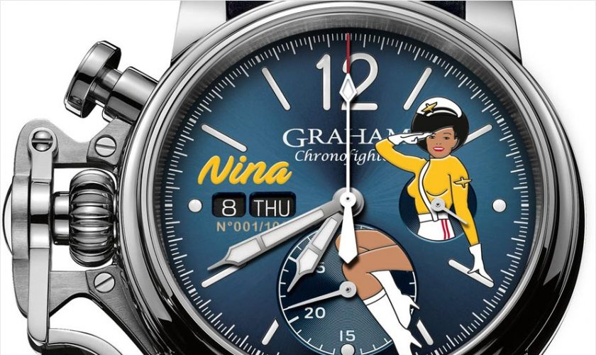 Graham Chronofighter Vintage Nose Art