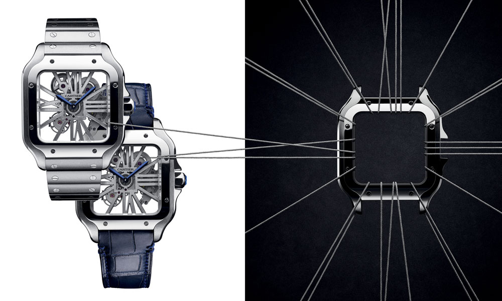 Santos de Cartier Skeleton watch