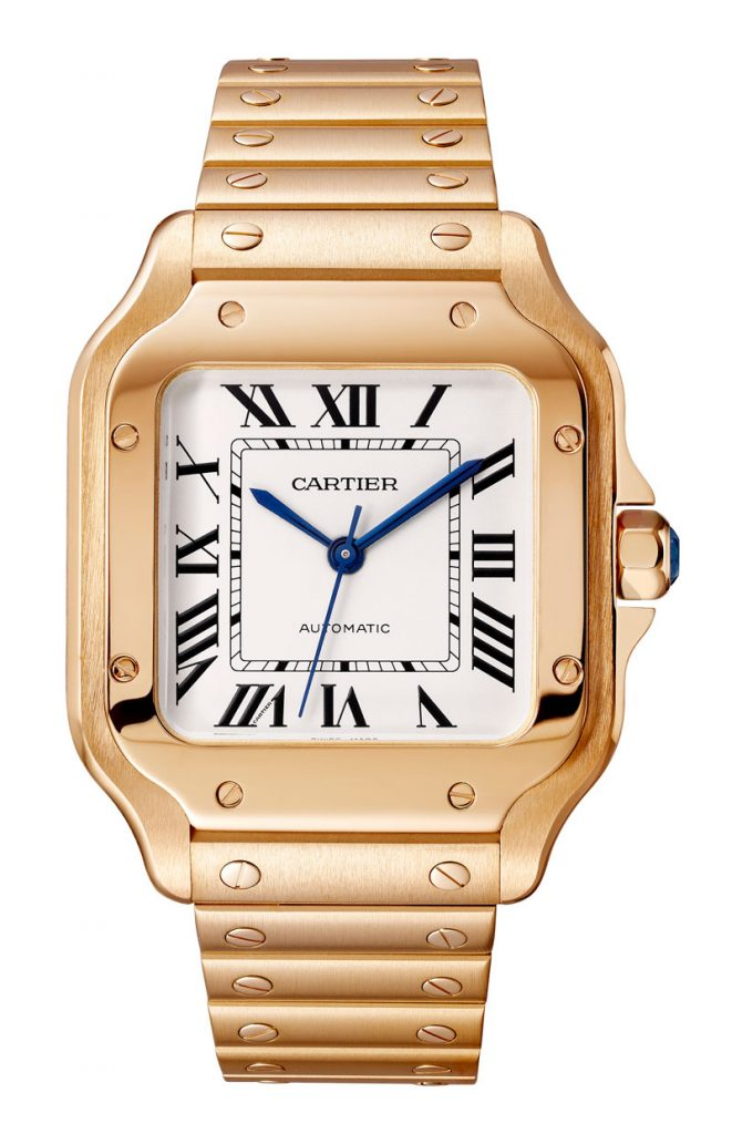 Santos de Cartier pink gold