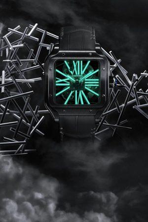 Cartier Santos de Cartier Skeleton Noctambule Watch