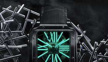Cartier Santos de Cartier Skeleton Noctambule Watch