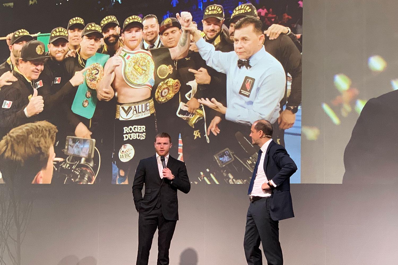 Mexicaanse bokser Saul 'Canelo' Alvarez voor Roger Dubuis